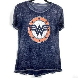WONDER WOMAN Blue Short Sleeve Tee Shirt